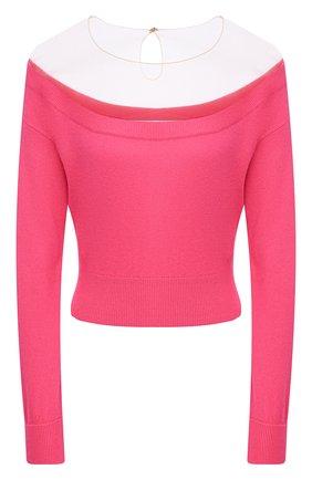 Женский пуловер из шерсти и вискоза ALEXANDER WANG фуксия цвета, арт. 1KC2193129 | Фото 1