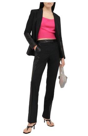 Женский пуловер из шерсти и вискоза ALEXANDER WANG фуксия цвета, арт. 1KC2193129 | Фото 2
