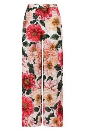 Женские брюки из вискозы DOLCE & GABBANA розового цвета, арт. FTBT3T/FSRMU | Фото 1