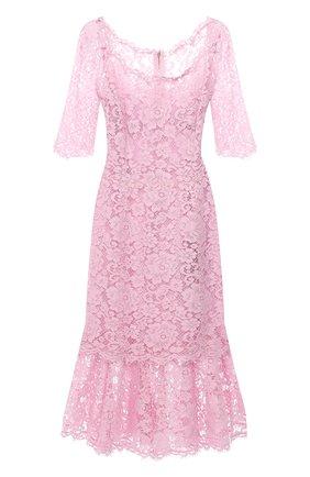 Женское платье DOLCE & GABBANA светло-розового цвета, арт. F6YM8T/HLMEA | Фото 1