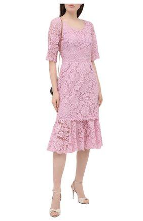 Женское платье DOLCE & GABBANA светло-розового цвета, арт. F6YM8T/HLMEA | Фото 2