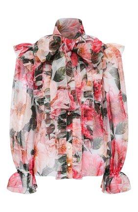 Женская шелковая блузка DOLCE & GABBANA розового цвета, арт. F5L64T/IS1E1   Фото 1