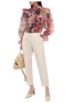 Женская шелковая блузка DOLCE & GABBANA розового цвета, арт. F5L64T/IS1E1   Фото 2