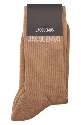 Женские хлопковые носки JACQUEMUS коричневого цвета, арт. 211AC09/500880 | Фото 1