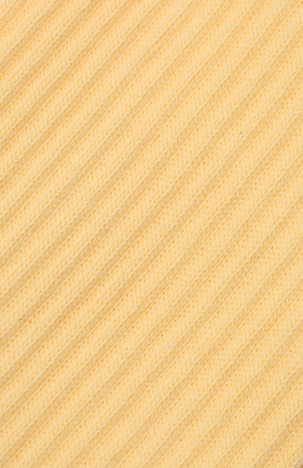 Женские хлопковые носки JACQUEMUS желтого цвета, арт. 211AC09/500200   Фото 2