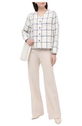 Женская льняная рубашка GIORGIO ARMANI белого цвета, арт. 1SH0C05J/T02FL | Фото 2