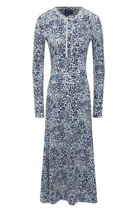 Женское хлопковое платье POLO RALPH LAUREN синего цвета, арт. 211827951 | Фото 1