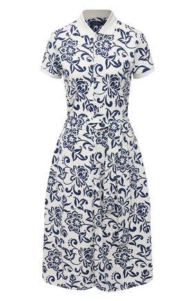 Женское хлопковое платье POLO RALPH LAUREN разноцветного цвета, арт. 211827934 | Фото 1