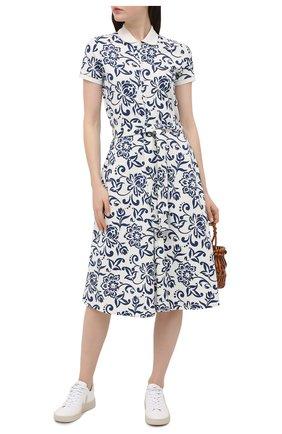 Женское хлопковое платье POLO RALPH LAUREN разноцветного цвета, арт. 211827934 | Фото 2