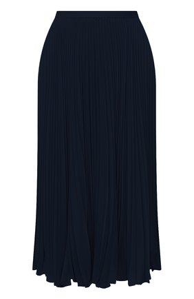 Женская плиссированная юбка POLO RALPH LAUREN темно-синего цвета, арт. 211781249 | Фото 1