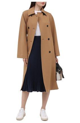 Женская плиссированная юбка POLO RALPH LAUREN темно-синего цвета, арт. 211781249 | Фото 2