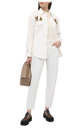 Женские джинсы FORTE DEI MARMI COUTURE кремвого цвета, арт. 21SF9077 | Фото 2
