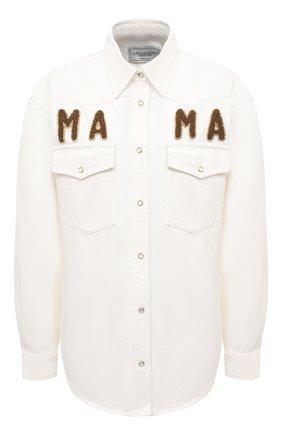 Женская хлопковая рубашка FORTE DEI MARMI COUTURE кремвого цвета, арт. 21SF9173 | Фото 1