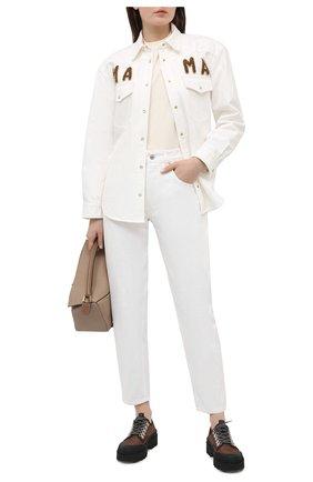Женская хлопковая рубашка FORTE DEI MARMI COUTURE кремвого цвета, арт. 21SF9173 | Фото 2