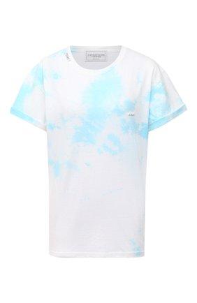 Женская хлопковая футболка FORTE DEI MARMI COUTURE голубого цвета, арт. 21SF9206 | Фото 1