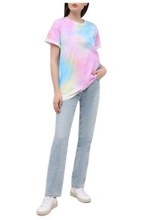 Женская хлопковая футболка FORTE DEI MARMI COUTURE разноцветного цвета, арт. 21SF9208 | Фото 2