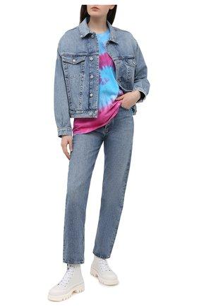 Женская хлопковая футболка FORTE DEI MARMI COUTURE разноцветного цвета, арт. 21SF9210-1 | Фото 2