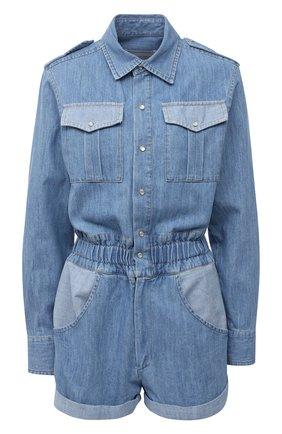 Женский джинсовый комбинезон FORTE DEI MARMI COUTURE синего цвета, арт. 21SF9550 | Фото 1