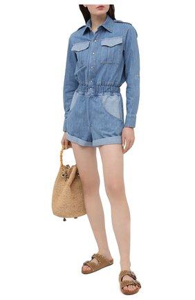 Женский джинсовый комбинезон FORTE DEI MARMI COUTURE синего цвета, арт. 21SF9550 | Фото 2