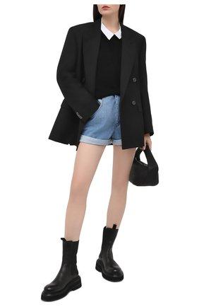 Женские джинсовые шорты FORTE DEI MARMI COUTURE синего цвета, арт. 21SF9850 | Фото 2