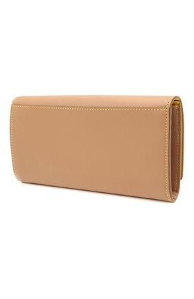 Женские кожаный кошелек BURBERRY бежевого цвета, арт. 8036706   Фото 2