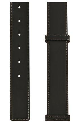 Женский кожаный ремень BURBERRY черного цвета, арт. 8036748 | Фото 2 (Кросс-КТ: Тонкие)