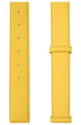 Женский кожаный ремень BURBERRY желтого цвета, арт. 8037031 | Фото 2 (Кросс-КТ: Тонкие)