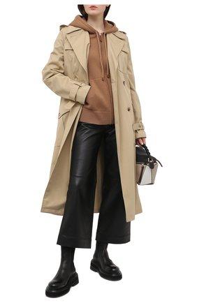 Женский кашемировый кардиган BURBERRY светло-коричневого цвета, арт. 8037508 | Фото 2