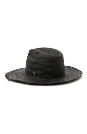 Женская соломенная шляпа SAINT LAURENT черного цвета, арт. 652570/3YG81 | Фото 1