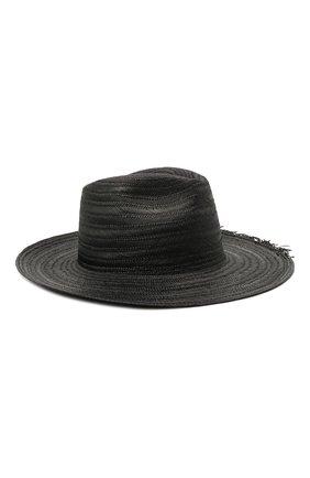 Женская соломенная шляпа SAINT LAURENT черного цвета, арт. 652570/3YG81 | Фото 2