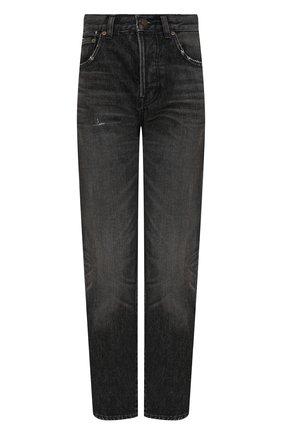 Женские джинсы SAINT LAURENT черного цвета, арт. 648437/Y07KB | Фото 1