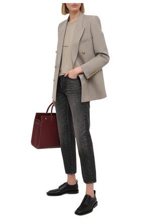 Женские джинсы SAINT LAURENT черного цвета, арт. 648437/Y07KB | Фото 2