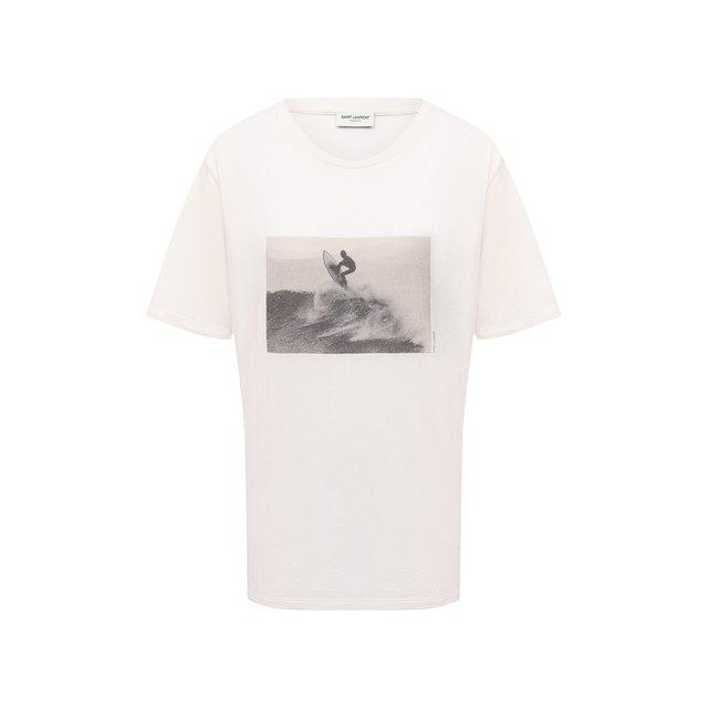 Хлопковая футболка Saint Laurent
