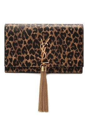 Женская сумка kate SAINT LAURENT леопардового цвета, арт. 452159/2QJ1J   Фото 1 (Размер: mini; Сумки-технические: Сумки через плечо; Ремень/цепочка: С цепочкой, На ремешке; Материал: Натуральная кожа; Женское Кросс-КТ: Вечерняя сумка)