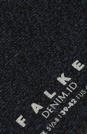 Мужские носки из хлопка и шерсти denim.id FALKE синего цвета, арт. 14491 | Фото 2