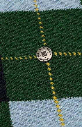Мужские хлопковые носки manchester BURLINGTON зеленого цвета, арт. 20182 | Фото 2