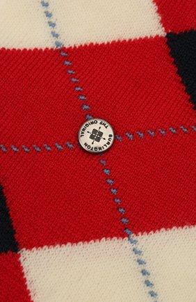Мужские шерстяные носки BURLINGTON красного цвета, арт. 21182 | Фото 2