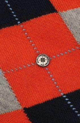 Мужские шерстяные носки BURLINGTON оранжевого цвета, арт. 21182 | Фото 2