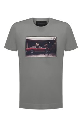 Мужская хлопковая футболка LIMITATO серого цвета, арт. BEVERLY/T-SHIRT | Фото 1