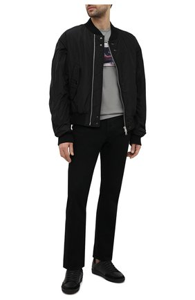 Мужская хлопковая футболка LIMITATO серого цвета, арт. BEVERLY/T-SHIRT | Фото 2