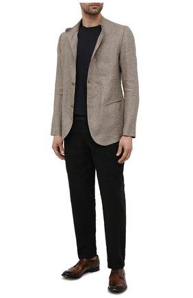 Мужские кожаные дерби OFFICINE CREATIVE коричневого цвета, арт. ANAT0MIA/60/AER0 CANY0N | Фото 2