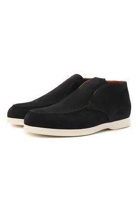 Мужские замшевые ботинки DOUCAL'S темно-синего цвета, арт. DU2815ARTHUF106IB00   Фото 1