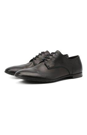 Мужские кожаные дерби PREMIATA черного цвета, арт. 31819/G0LDEN B. | Фото 1 (Материал внутренний: Натуральная кожа; Стили: Классический)