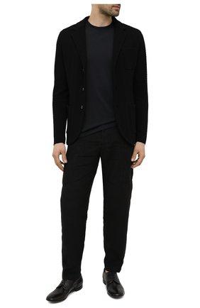 Мужские кожаные дерби PREMIATA черного цвета, арт. 31819/G0LDEN B. | Фото 2 (Материал внутренний: Натуральная кожа; Стили: Классический)