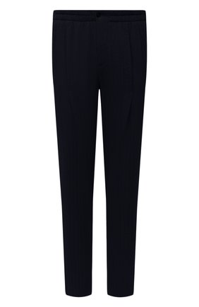 Мужские брюки GIORGIO ARMANI темно-синего цвета, арт. 9SGPP05M/T02GP | Фото 1