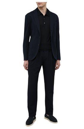 Мужские брюки GIORGIO ARMANI темно-синего цвета, арт. 9SGPP05M/T02GP | Фото 2