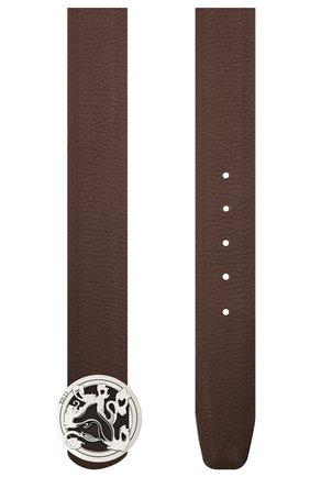 Мужской кожаный ремень ZILLI коричневого цвета, арт. MJL-CLAQE-01947/0035/120-130 | Фото 2