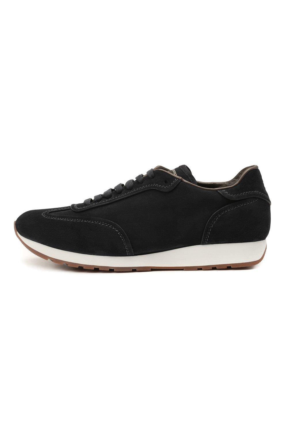 Мужские замшевые кроссовки BRIONI темно-синего цвета, арт. QHI90L/P0711 | Фото 3
