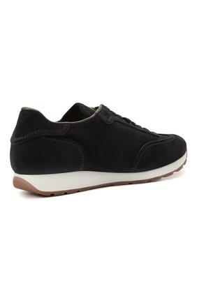 Мужские замшевые кроссовки BRIONI темно-синего цвета, арт. QHI90L/P0711 | Фото 4