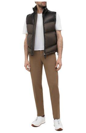 Мужские кожаные кроссовки BRIONI белого цвета, арт. QHI90L/P9726   Фото 2 (Стили: Классический; Подошва: Массивная; Материал внутренний: Натуральная кожа)